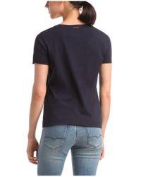 BOSS Orange - Blue T-shirt 'tishirt' In Cotton - Lyst