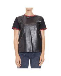 Fausto Puglisi | Black T-shirt | Lyst