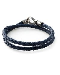 Tod's | Blue Double Wrap Woven Bracelet for Men | Lyst