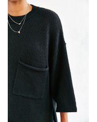 Silence + Noise - Black Sweater Pocket Tee - Lyst