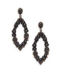 Bavna - Black Spinel, Champagne Diamond & Sterling Silver Drop Earrings - Lyst