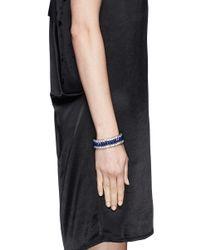 Kenneth Jay Lane - Blue Crystal And Lapis Elasticated Bracelet - Lyst