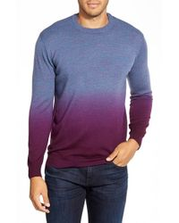 Bugatchi | Purple Ombre Crewneck Sweater for Men | Lyst