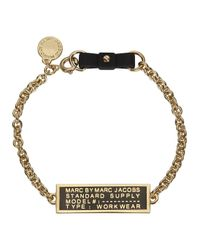 Marc By Marc Jacobs - Metallic Standard Supply Black Chain Bracelet - Lyst