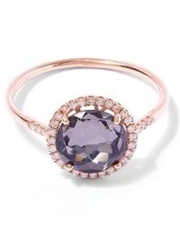 Suzanne Kalan | Purple Rose Gold Quartz Diamond Ring | Lyst