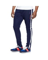 Ralph Lauren | Black Cotton-blend-piqué Track Pant for Men | Lyst
