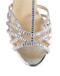 Betsey Johnson | Metallic Ruby T-Strap Stiletto Sandals | Lyst
