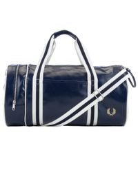 Fred Perry - Blue Retro Barrel Bag for Men - Lyst