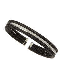 Alor | Black Three-strand Diamond-bar Bangle | Lyst