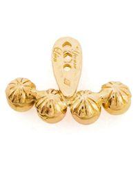 Yvonne Léon | Metallic 18Kt Gold Lobe Earring | Lyst