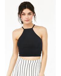 Truly Madly Deeply | Black Cropped High Neck Tank Top | Lyst
