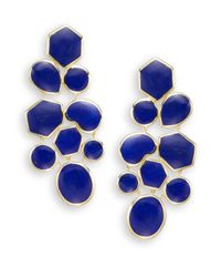 Ippolita | Blue Polished Rock Candy Lapis & 18k Yellow Gold Mosaic Earrings | Lyst