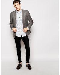 Ben Sherman - White Long Sleeve Bengal Stripe Shirt for Men - Lyst