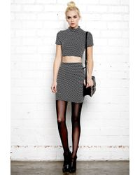 Forever 21 | Black Mod Dots Cutout Dress You've Been Added To The Waitlist | Lyst