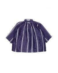 Apiece Apart | Blue Shirred Agata Top | Lyst