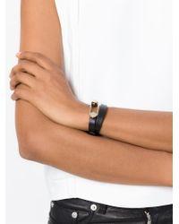 Tod's | Black Metal Pin Wrap Bracelet | Lyst