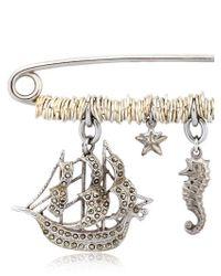 Maria Zureta | Metallic Marine Sterling Silver Safety Pin | Lyst