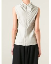 Rick Owens - Gray Draped Top - Lyst