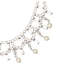 DANNIJO | Metallic Silver-Plated Crystal Pearl Everett Necklace | Lyst