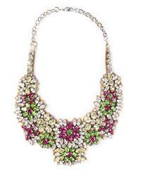Valentino - Multicolor Embellished Bib Necklace - Lyst