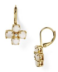 kate spade new york - Metallic Central Park Pansy Leverback Earrings - Lyst