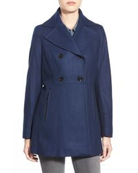 MICHAEL Michael Kors | Blue Wool Blend Peacoat | Lyst