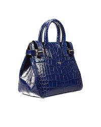 Giorgio Armani   Blue Handbag Bag Dakar Small Print Croco Print   Lyst