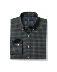 Polo Ralph Lauren | Green Plaid Cotton Oxford Shirt for Men | Lyst