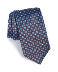 Ted Baker - Brown 'daisy Micro' Floral Silk Tie for Men - Lyst