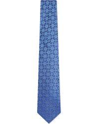 Turnbull & Asser | Diamond Square Silk Tie, Men's, Blue Gold for Men | Lyst