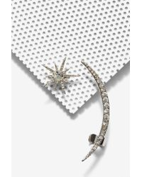 Nasty Gal | Metallic Moon And Stars Earring And Cuff Set | Lyst