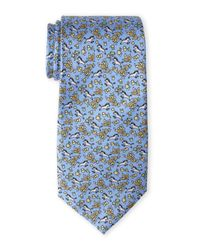 Pierre Cardin | Blue Zebra Silk Tie for Men | Lyst