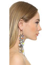 Venessa Arizaga - Metallic Meteor Shower Earring - Silver Multi - Lyst