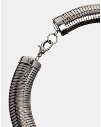 ASOS - Metallic Snake Chain Collar Necklace - Lyst
