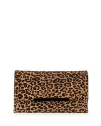 Christian Louboutin - Multicolor Rougissime Leopard-Print Clutch - Lyst