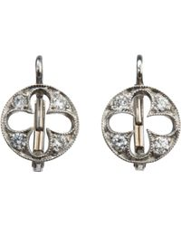 Cathy Waterman | Metallic Florentine Quatrefoil Earrings Size Os | Lyst