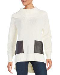 MICHAEL Michael Kors | Natural Hi-lo Turtleneck Sweater | Lyst