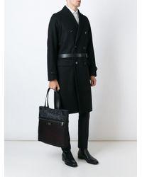 Dolce & Gabbana - Black Leopard Print Reversible Shopper for Men - Lyst