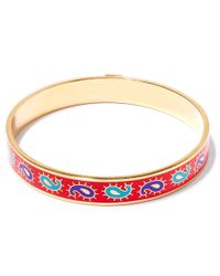Liberty - Red Paisley Multicolour Thin Bangle - Lyst