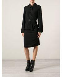 Ann Demeulemeester - Black Shirt Dress - Lyst