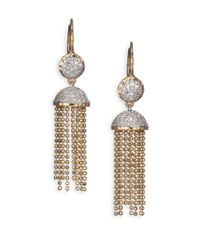 Phillips House - Metallic Affair Diamond & 14K Yellow Gold Tassel Earrings - Lyst