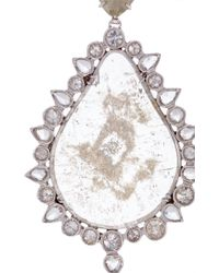 Nina Runsdorf - White Pear Shapes Earrings With Organic And Icy Diamonds - Lyst