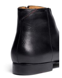 Paul Smith - Black Dove Leather Chelsea Boots for Men - Lyst