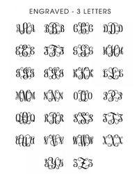 BaubleBar | Metallic Engraved Monogram Pendant | Lyst
