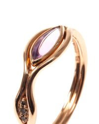 Fernando Jorge - Pink Diamond Amethyst Rosegold Fluid Ring - Lyst
