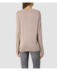 AllSaints | Natural Heny Long Sleeved Tee | Lyst