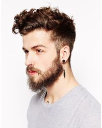 ASOS | Black Plug Earring Pack with Stud and Feather for Men | Lyst