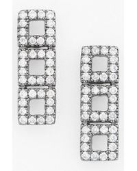 Dana Rebecca - Black 'allison Joy' Diamond Drop Earrings - Lyst