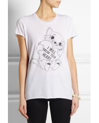 Zoe Karssen - White I Will Break Your Heart Cotton and Modal Blend T-shirt - Lyst