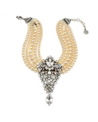 Ben-Amun | Metallic Pearl And Crystal Statement Necklace | Lyst